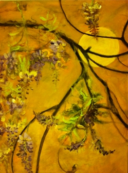 "Wisteria Moon ©Morri ( 24"" x 32"" acrylic on canvas $!,250.00 +tax/shipping )"
