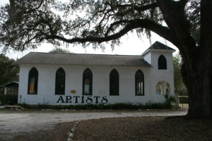 Artists Hall:Gothic 1920 Church Melrose, Florida