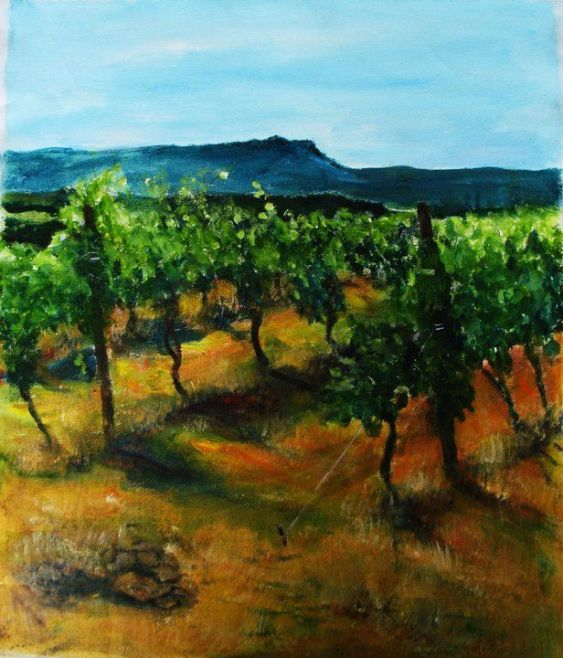 Cezanne's Mountain 'en plein air Provence, France ©Morri