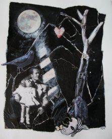 Lessons, Escape series ©Morri (nfs) (my father and me) collage/mixed media