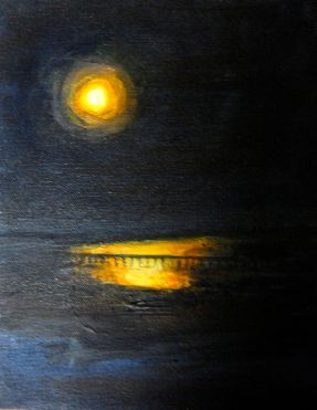 Full Moon from the West Shore ©Morri (sold)